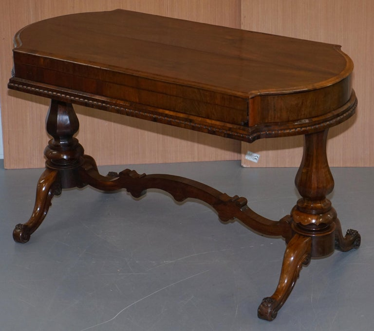 Hand-Crafted Restored Early Victorian Hardwood Bagatelle Table Ornately Carved Pub Games For Sale