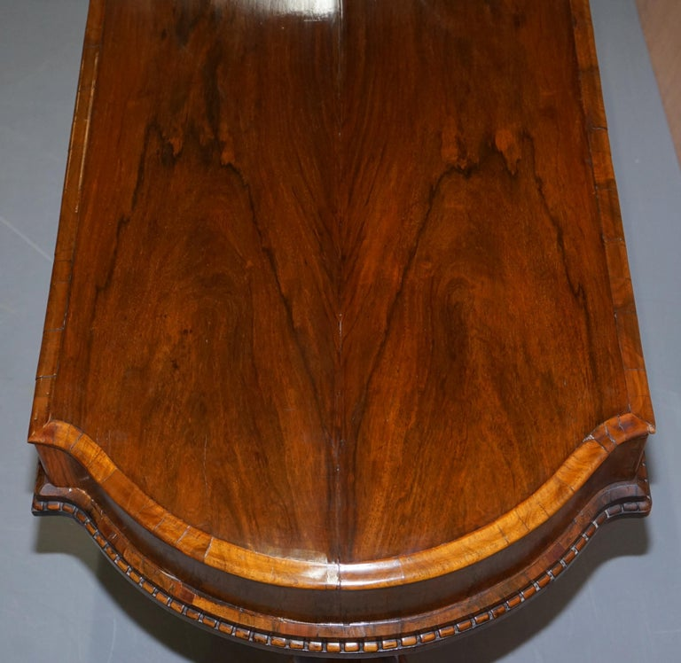 Restored Early Victorian Hardwood Bagatelle Table Ornately Carved Pub Games For Sale 3