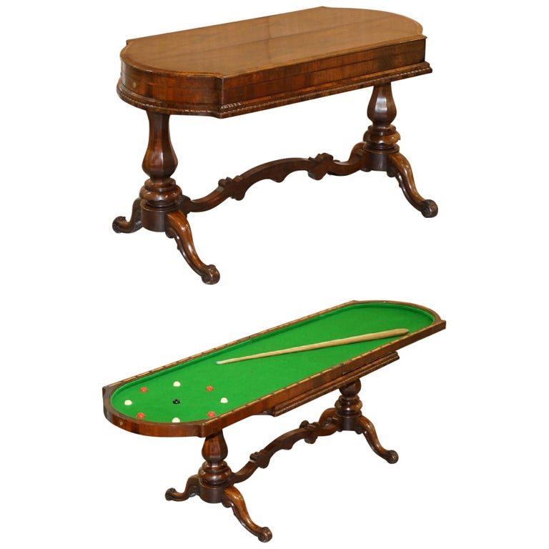 Restored Early Victorian Hardwood Bagatelle Table Ornately Carved Pub Games For Sale
