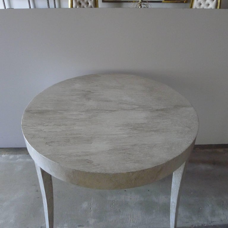 Modern Restored Game or Dining Table in Drip-Glaze Finish For Sale