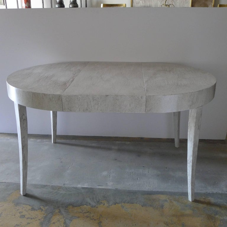 Restored Game or Dining Table in Drip-Glaze Finish In Excellent Condition For Sale In Los Angeles, CA