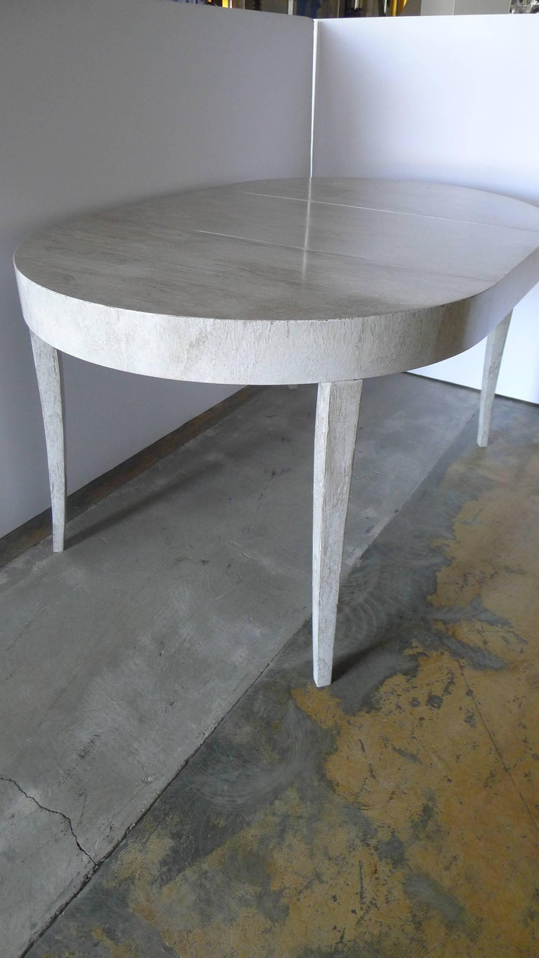 20th Century Restored Game or Dining Table in Drip-Glaze Finish For Sale