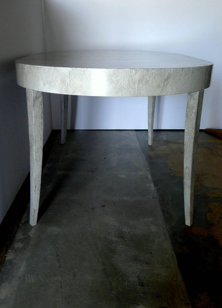 Wood Restored Game or Dining Table in Drip-Glaze Finish For Sale