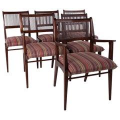 Restored John Van Koert for Drexel Parallel Midcentury Dining Chairs, Set of 6