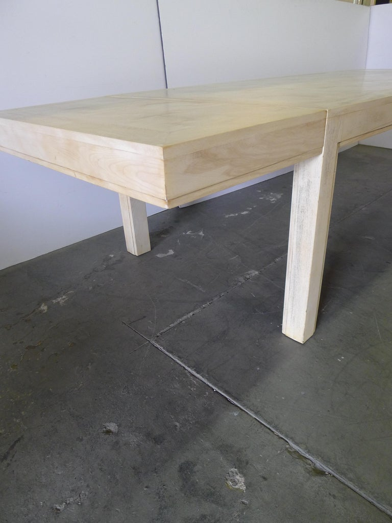 20th Century Restored Large Parsons Style Mid-Century Dining Table For Sale
