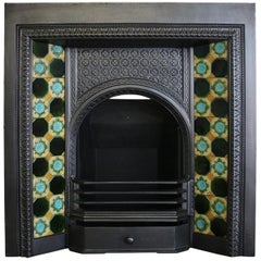 Restored Late 19th Century Victorian Cast Iron Fireplace Insert