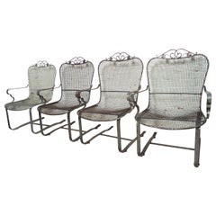 Restored Metal Spring Chairs