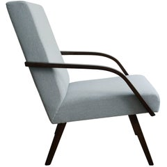 Restored Midcentury Armchair with a New Fabric from Kirkby Design