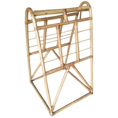 Restored Midcentury Rattan Arched Drying Rack