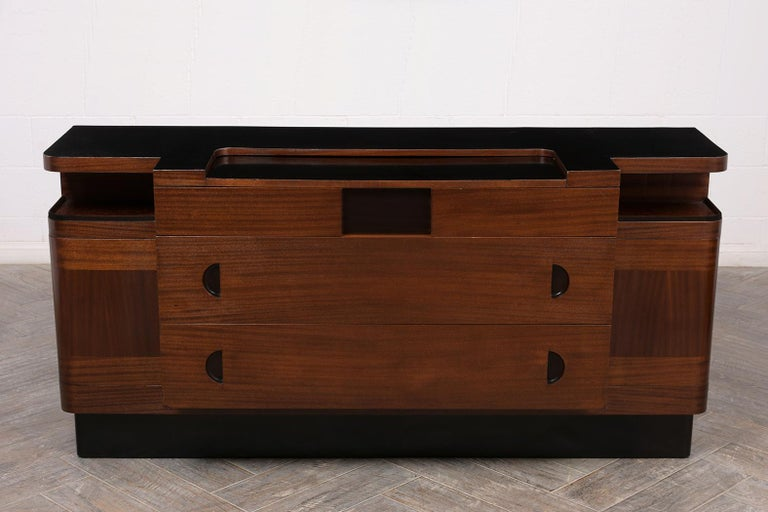 Italian Mid-Century Modern Lacquered Credenza In Good Condition For Sale In Los Angeles, CA