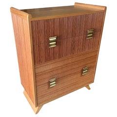 Restored Paul Frankl Combed Wood Dresser for Brown Saltman