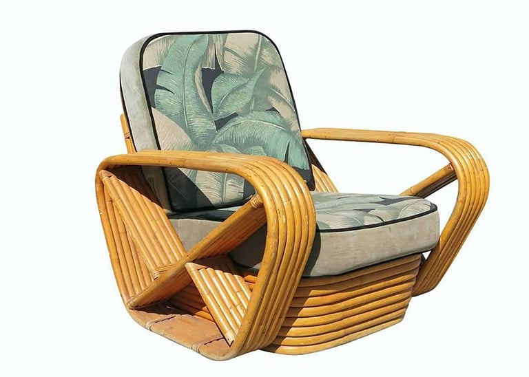 Mid-20th Century Restored Paul Frankl Style Sofa and Lounge Chair Set For Sale