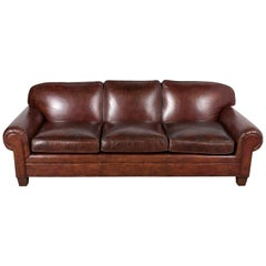Restored Ralph Lauren Leather Sofa