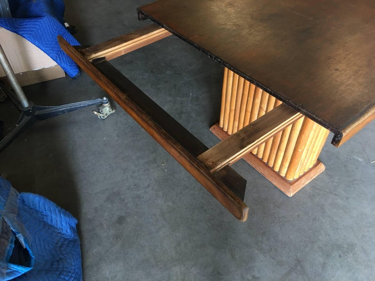 Restored Rare Paul Frankl Dining Room Table and Chairs Set For Sale 1