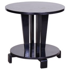 Restored Small Black Cubism Art Deco Black Coffee Table, Czechia 'Bohemia' 1910s