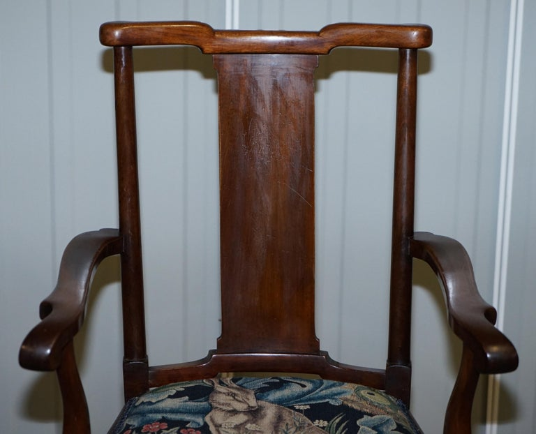 19th Century Restored Suite of William Morris Richard Norman Shaw Tabard Bench & Armchairs For Sale
