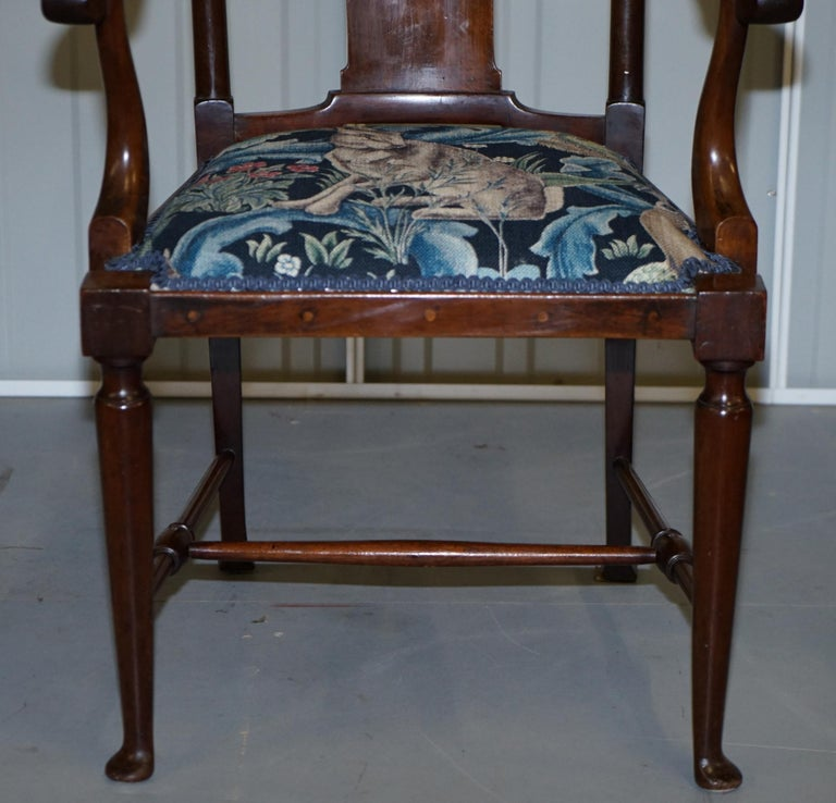 Upholstery Restored Suite of William Morris Richard Norman Shaw Tabard Bench & Armchairs For Sale