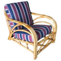 "Restored Three-Strand ""1940s Transition"" Rattan Lounge"