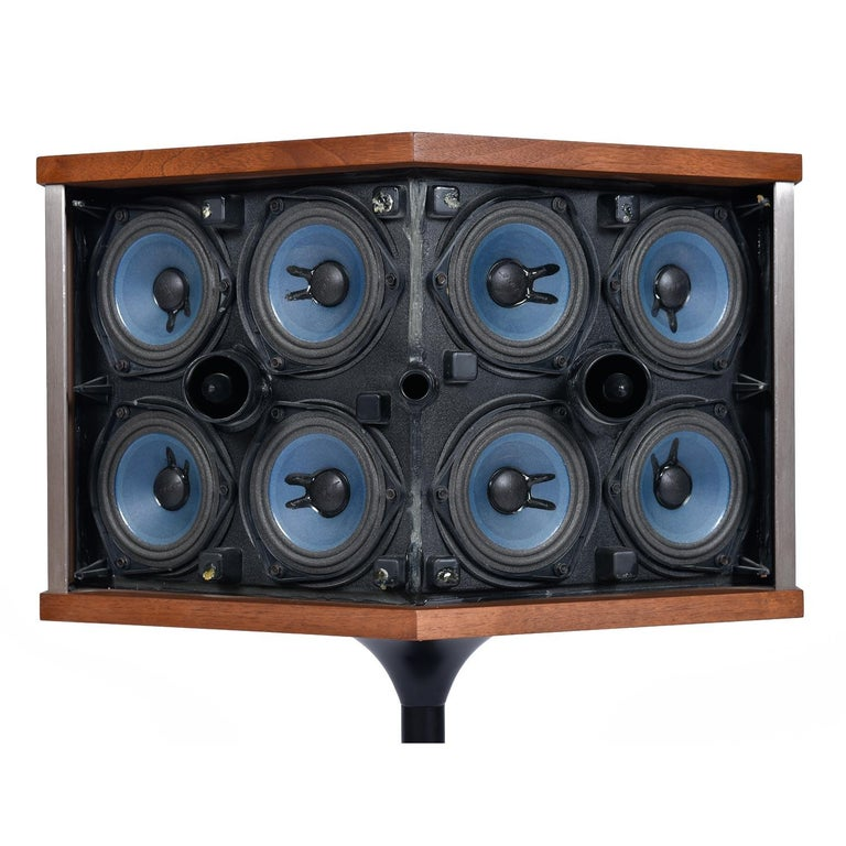 Restored Vintage 1983 Bose 901 Series V Speakers with Tulip Stands and Equalizer 3