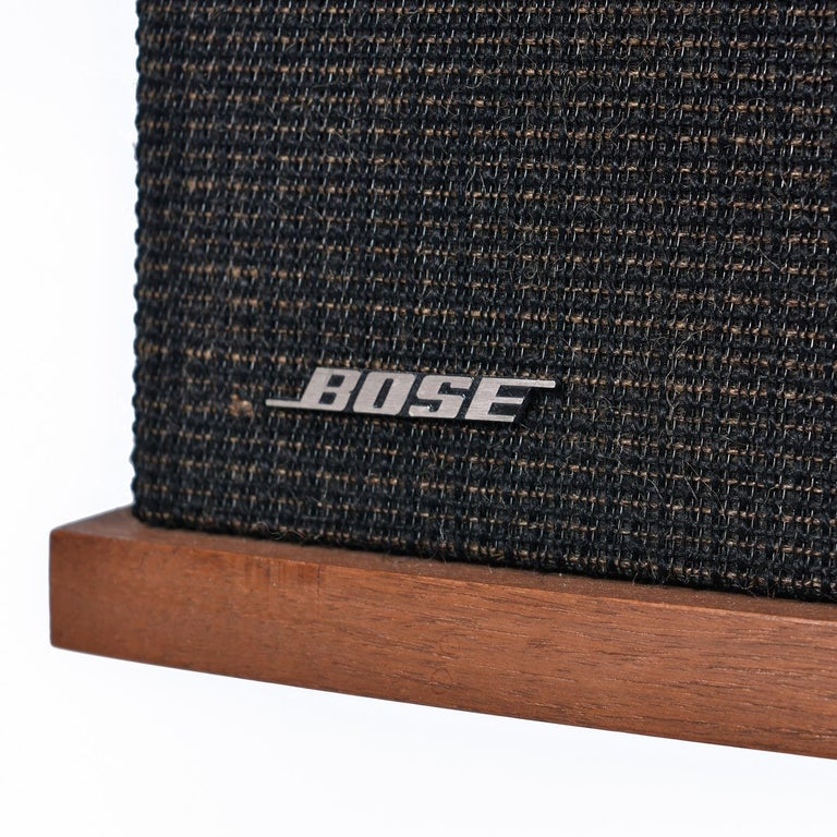 Restored Vintage 1983 Bose 901 Series V Speakers with Tulip Stands and Equalizer 5