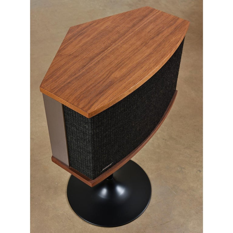 American Restored Vintage 1983 Bose 901 Series V Speakers with Tulip Stands and Equalizer
