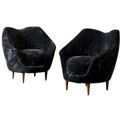 Restored Vintage Armchairs, Italy, 1970
