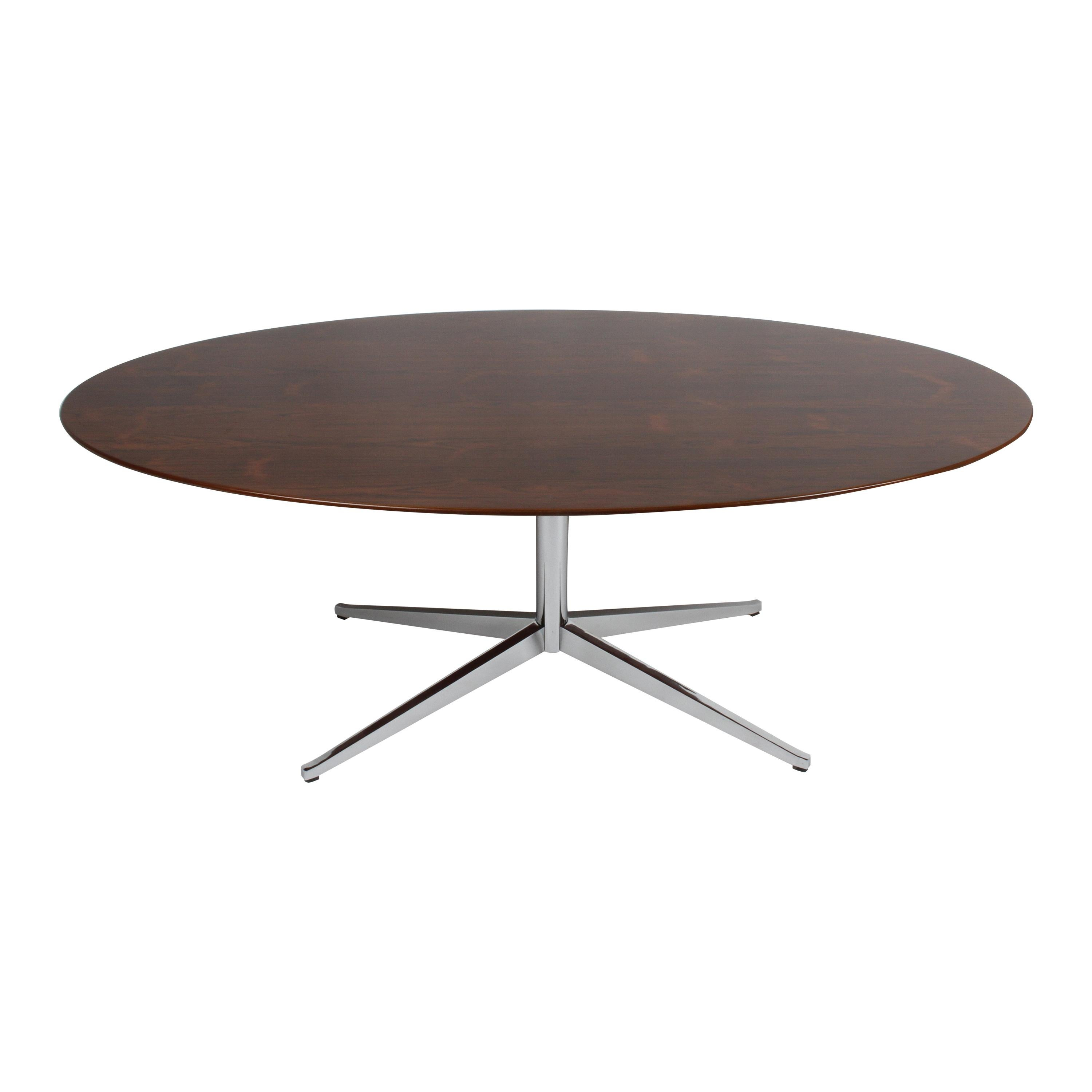 Restored Vintage Florence Knoll Oval Top Rosewood Dining or Conference Table