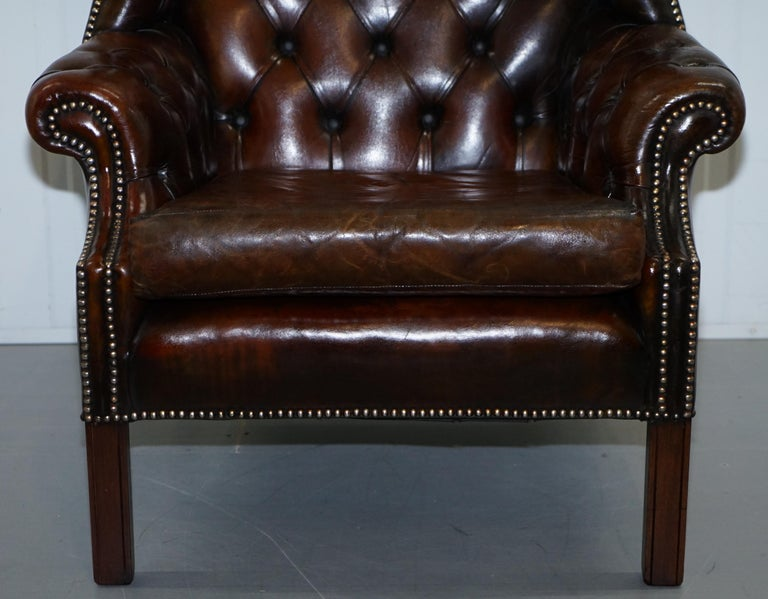 Restored Vintage Handmade In England Chesterfield Wingback