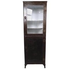 Restored Vintage Industrial Medical Cabinet