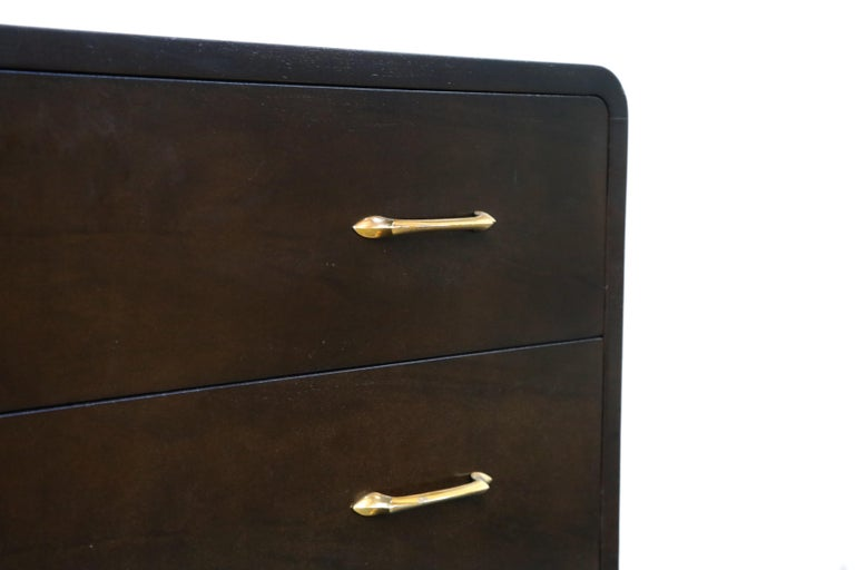 Restored Widdicomb Streamline Moderne Chest of Drawers, circa 1940s, Signed For Sale 8