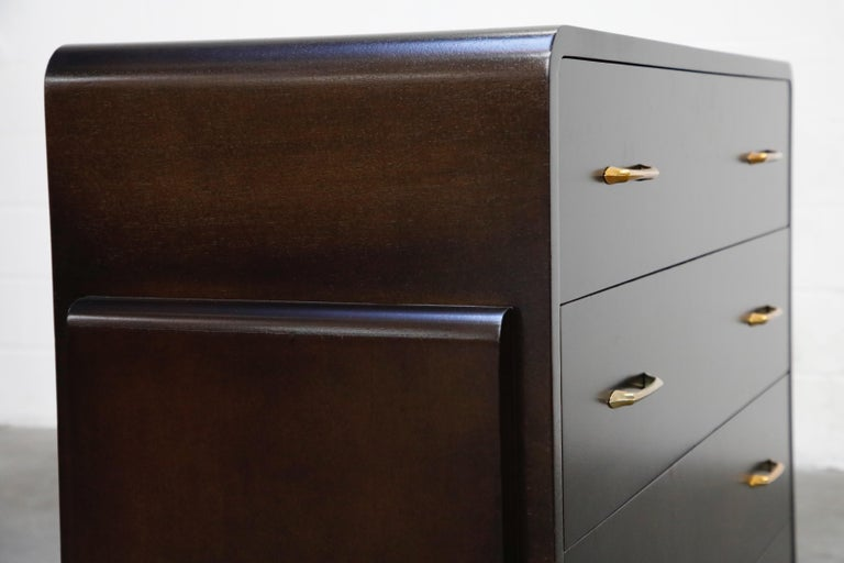 Restored Widdicomb Streamline Moderne Chest of Drawers, circa 1940s, Signed For Sale 12