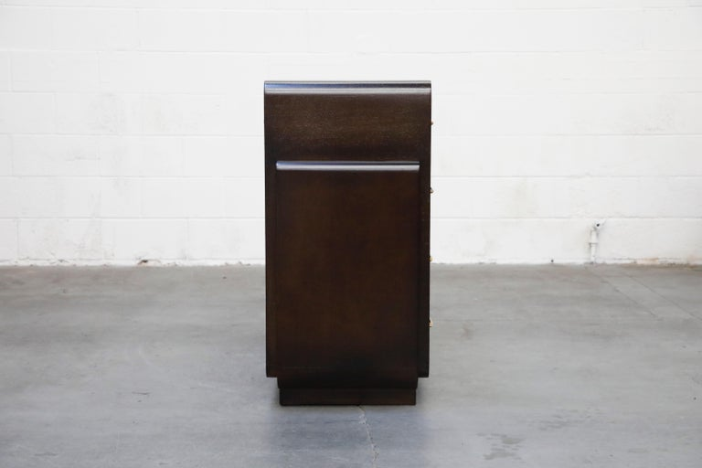 Restored Widdicomb Streamline Moderne Chest of Drawers, circa 1940s, Signed For Sale 1