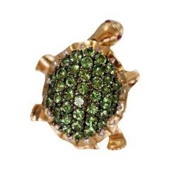 Retired Levian Tsavorite Turtle Dancing Ring