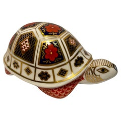 Retired Royal Crown Derby English Bone China Turtle Figurine or Paperweight