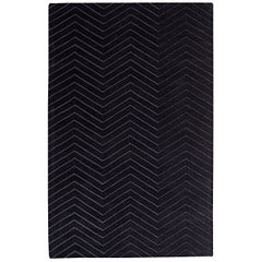Retreat Black, Hand Tufted Area Rug with New Zealand Wool, by Thirty Six Knots