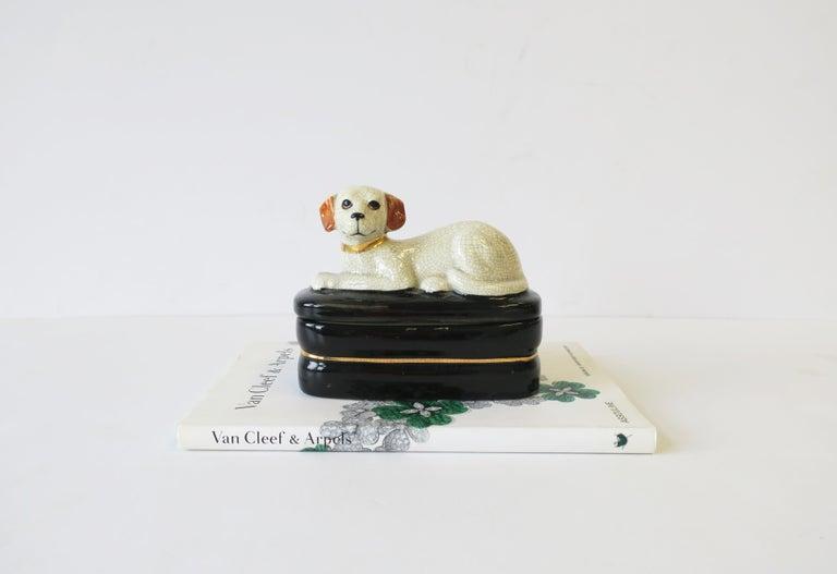 European Retriever Dog Trinket or Jewelry Box For Sale