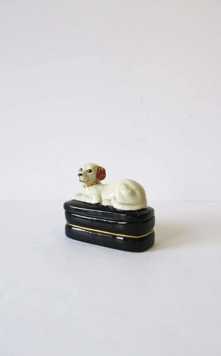 20th Century Retriever Dog Trinket or Jewelry Box For Sale