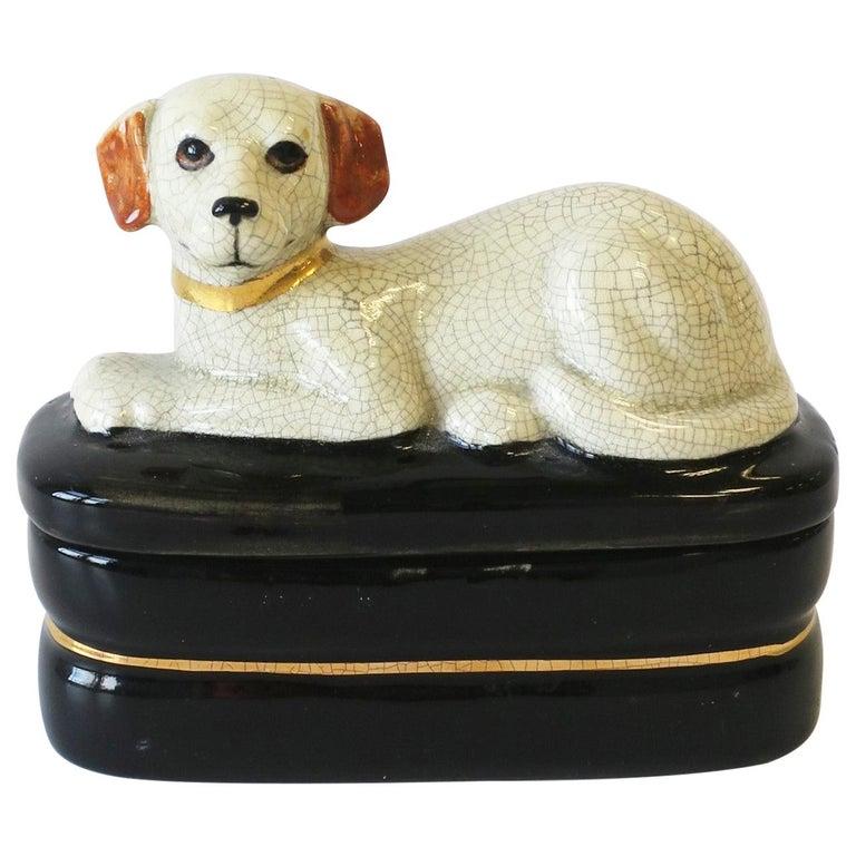 Retriever Dog Trinket or Jewelry Box For Sale