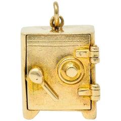 Retro 14 Karat Gold Functional Safe Charm, circa 1940