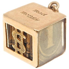 Retro 14 Karat Gold Mad Money Case Charm