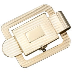Retro 14 Karat Gold Money Clip Picture Frame