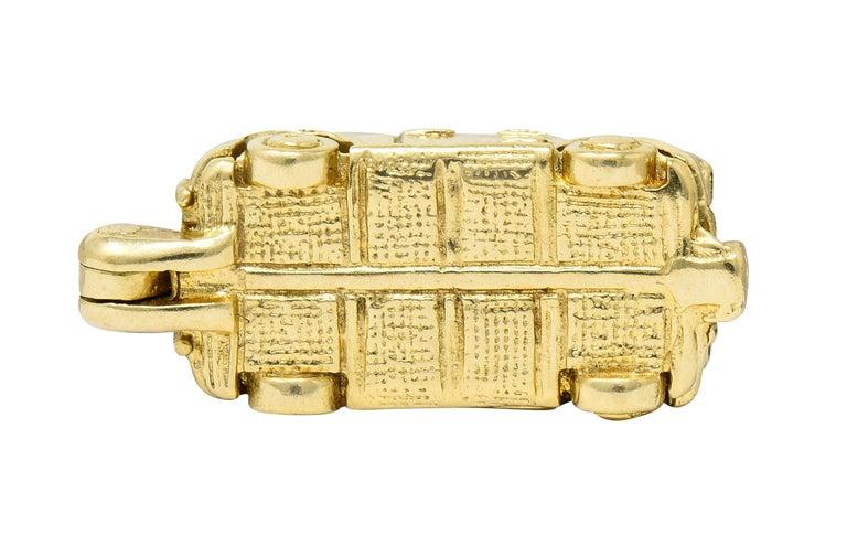 Retro 14 Karat Yellow Gold Articulated Car Charm, circa 1940 For Sale 6