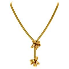 Retro 14 Karat Yellow Gold Necklace, 1940s