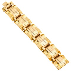 Retro 18 Karat Bi-Colored Gold Bracelet