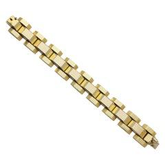 Retro 18 Karat Gold Tank Bracelet