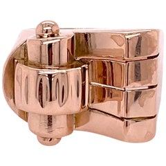 Retro 18 Karat Rose Gold Right Hand Ring Vintage