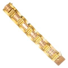 Retro 18 Karat Yellow and Rose Gold Bracelet