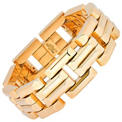 Retro 18 Karat Yellow Gold Bracelet