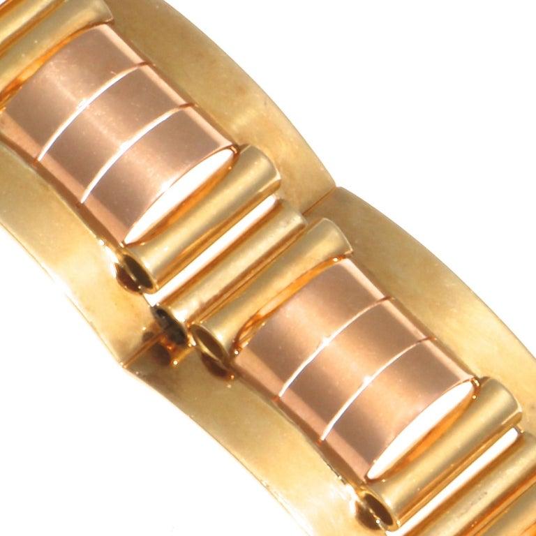 Women's Retro 18 Karat Yellow and Rose Gold Bracelet For Sale