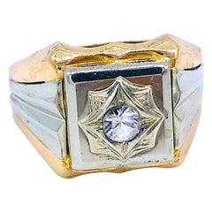Retro, 18 Karat Men's Pink Gold Ring